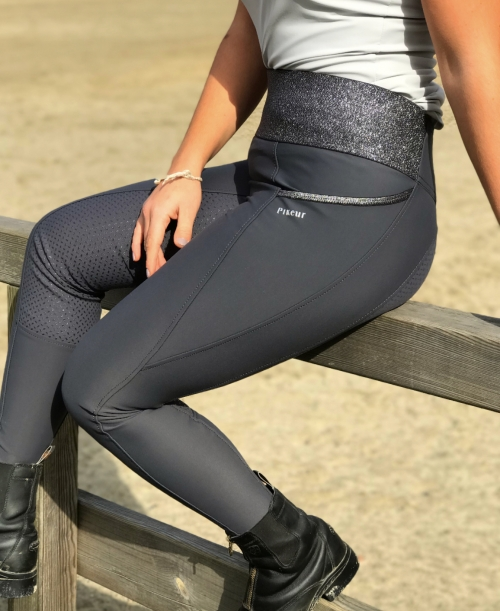 Pikeur Damen Reithose Hanne Grip Athleisure Dark Shadow