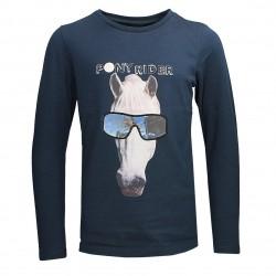 Equi-Kids Holo Shirt Blau