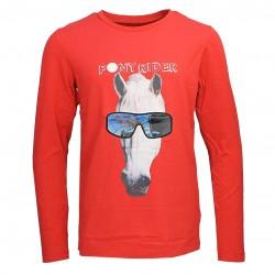 Equi-Kids Holo Shirt Rot